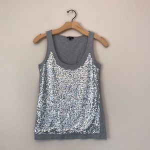 Talbots Tops - Talbots Sequence grey silver top